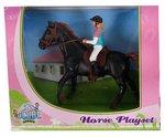 Kids Globe Horses donker bruin paard
