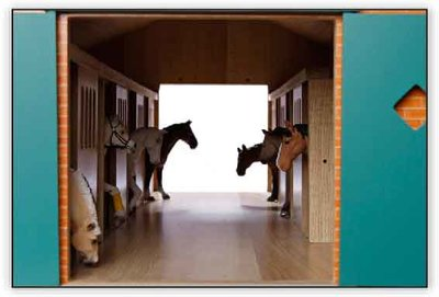 paardenstal om mee te spelen