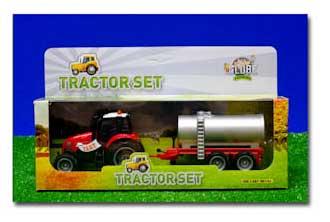 Kids Globe 510653 Tractor met giertank (schaal 1:50)