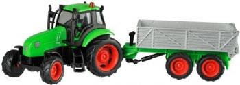 Kids Globe 510653 Tractor met kiepkar (schaal 1:50)