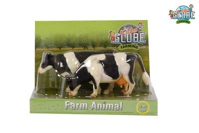 Kids globe zwart/wit koe staand