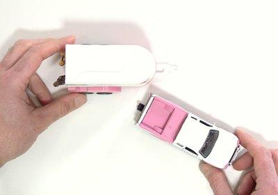speelgoed roze paarden trailer