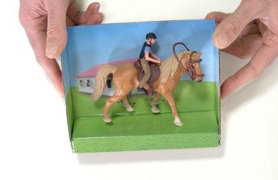 speelgoed paard met ruiter
