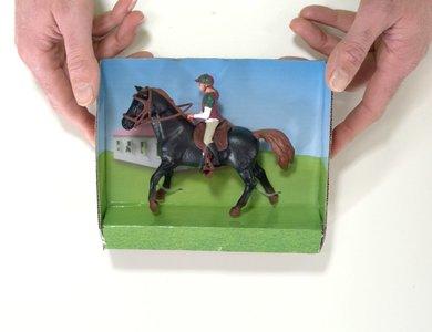 speelgoed donker paard