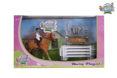 Kids Globe paarden speelset
